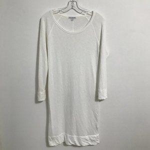 James Perse Standard White Long Sleeve Dress